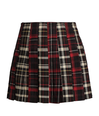 Carter Plaid Pleated Mini Skirt