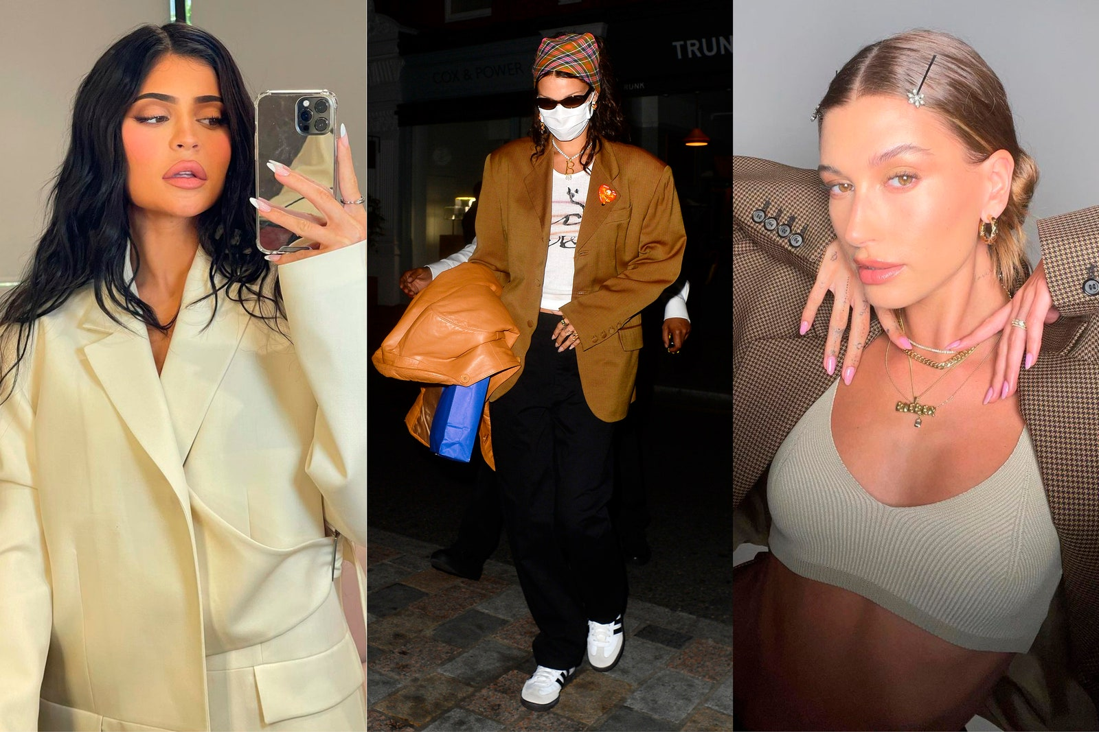 Kylie Jenner Bella Hadid and Hailey Bieber